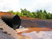 Применение габионных конструкции при строительства водопропускных сооружений